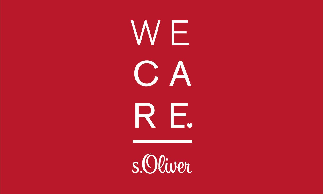 suche nach authentisch Kostenloser Versand süß billig WE CARE — The s.Oliver Sustainability Program - Munique ...